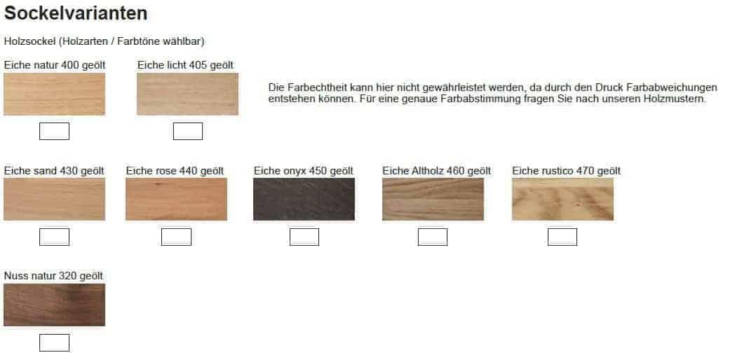 Ada Holzvarianten Terra