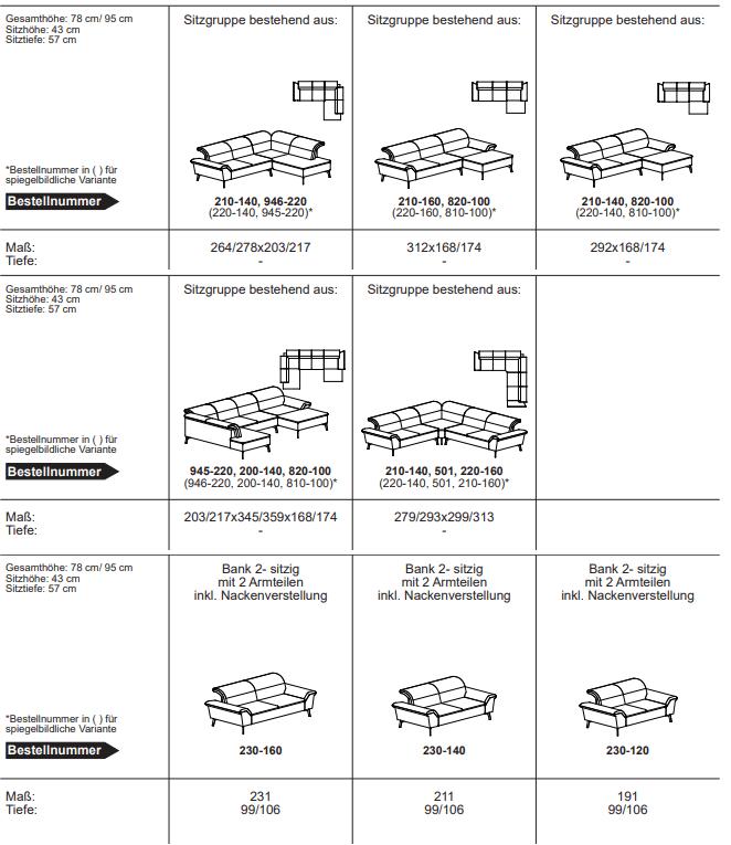 Varianten Mod. Tunis ADA